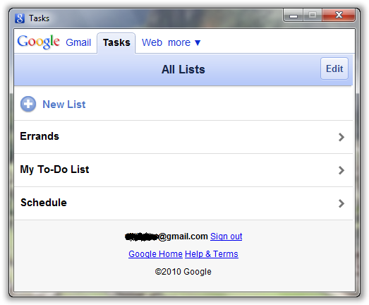 View All Google Tasks Lists - © TechNorms