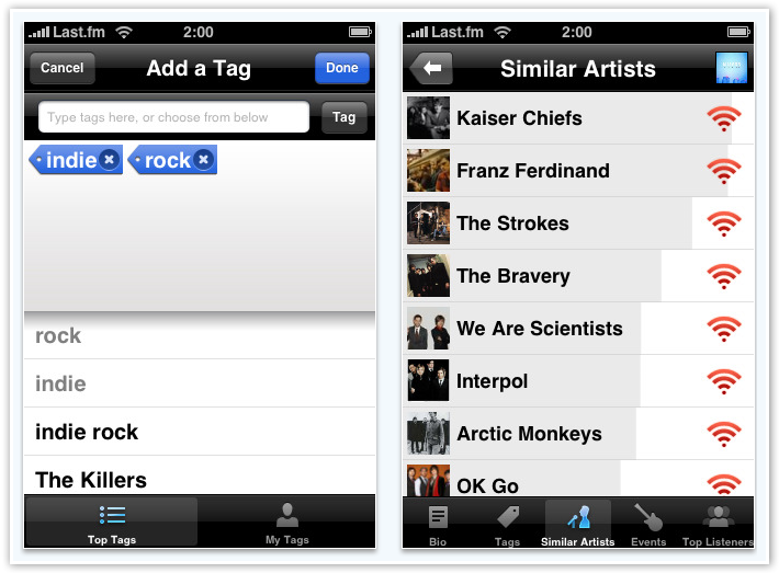 Last.fm Tagging and Similar Artists - © TechNorms
