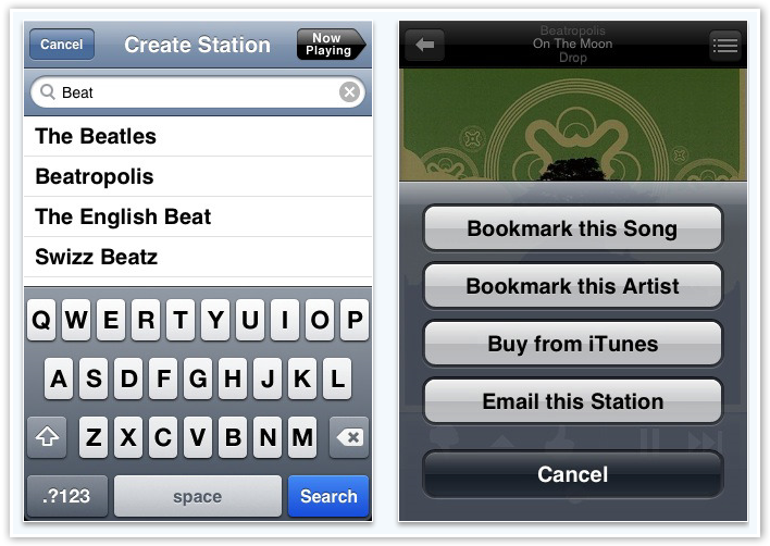 Pandora - Create Stations and Bookmarking - © TechNorms