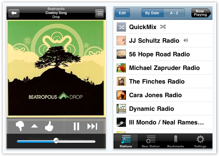 Pandora Radio App on iPhone - © TechNorms