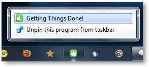 Pinning a File to Windows 7 Taskbar - © TechNorms