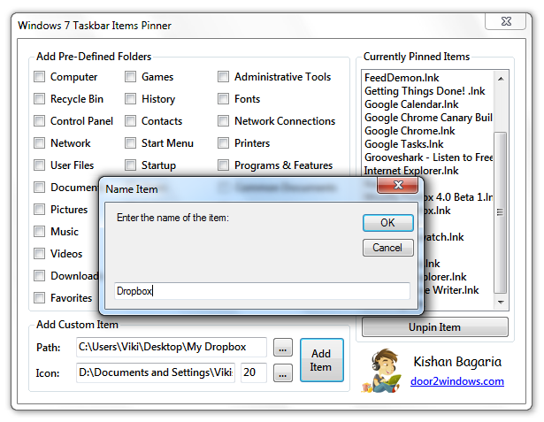Pinning a Folder To Windows 7 Taskbar - © TechNorms