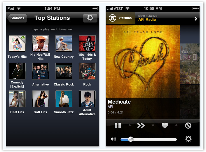 Slacker Radio Top Stations on The App - © TechNorms