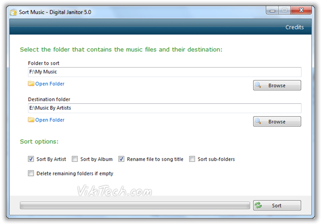 Sort Music Files WIth Ease - © TechNorms