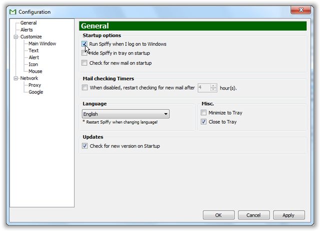 Spiffy-General-Setting-Window- © TechNorms