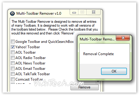 Toolbar Removal - © TechNorms