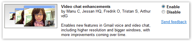 Video Chat Enhancement - Gmail Labs - © TechNorms