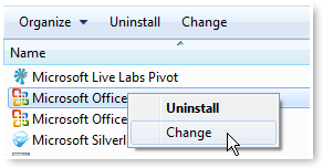 Change the MS Office Installation - © TechNorms
