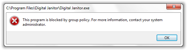 Group Policy - Program Access Resrticted - © TechNorms