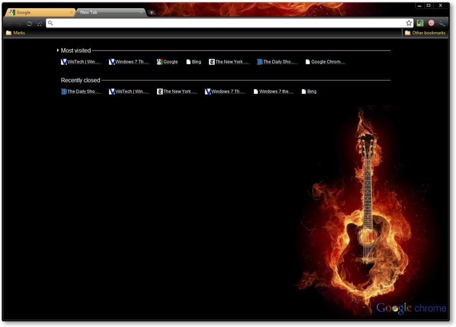 Guitar - Google Chrome Themes [Music Themes]