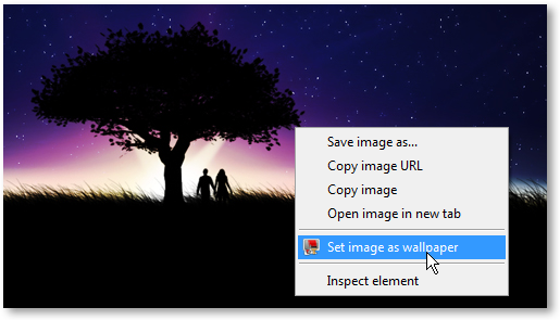 Set Image as Wallpaper in Google Chrome - © TechNorms