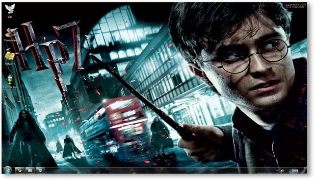 Harry Potter Deathly Hallows Windows 7 Theme And Wallpapers