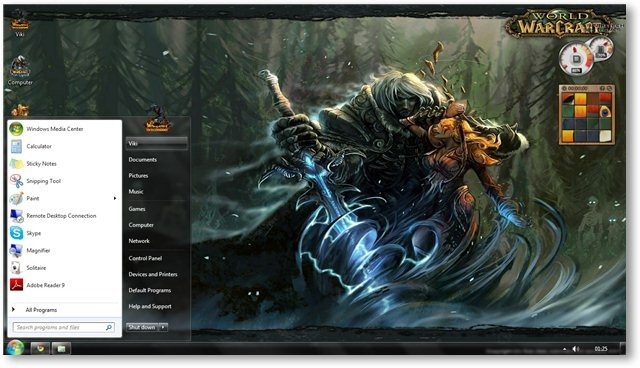 world of warcraft тема для windows 7