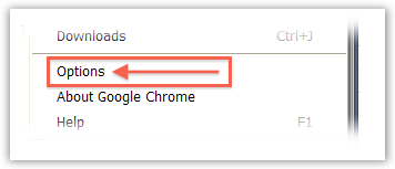 Select Chrome Options