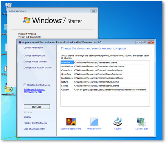 temi per windows 7 starter