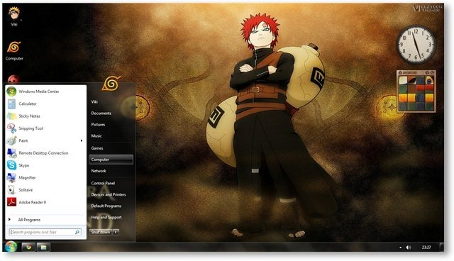 Naruto Shippuden Theme For Windows 7 and Windows 8