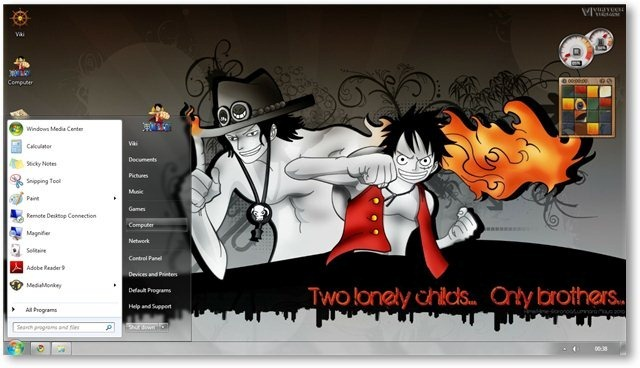 One Piece Theme For Windows 7 And 8 Anime Themes