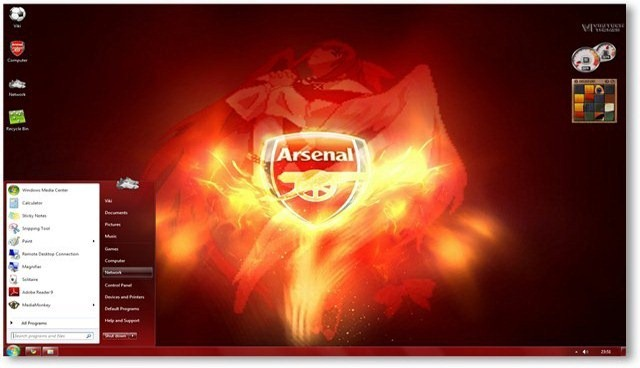 Windows 7 Themes Arsenal Fc Theme For Windows Sports Themes