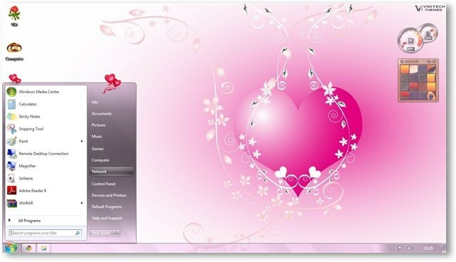 Windows 7 Theme For Valentines Day