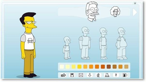 Turn yourself into a simpsons character app