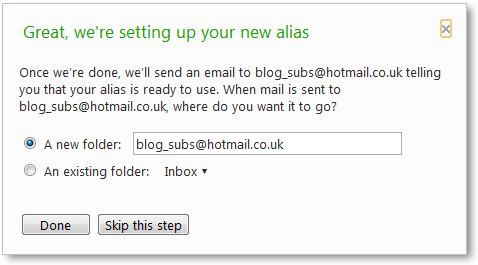 Create Temporary Email IDs In Hotmail, Keep Primary Email Safe