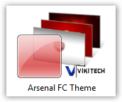 Arsenal FC windows 7 Theme