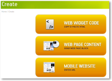 Create Android App from web content