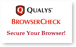 Easy Browser Security with Qualys BrowserCheck