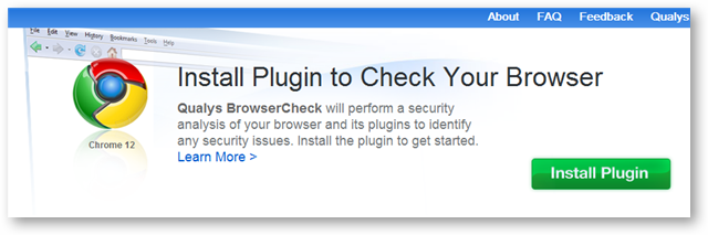 Qualys BrowserCheck - Detects Browser Version