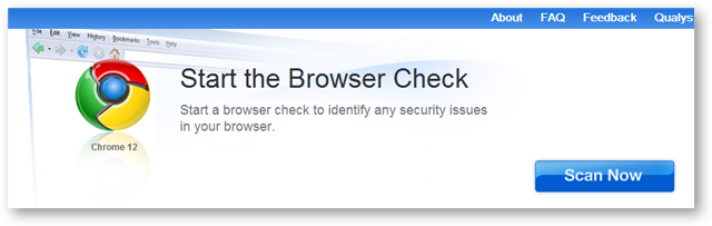 Start Browser Test to scan the Browser for Vulnerabilities