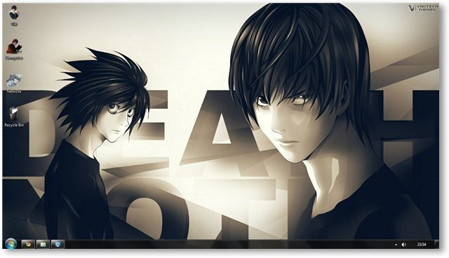 Death Note Theme For Windows 7 And Windows 8