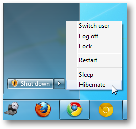 Hibernate Option Enabled