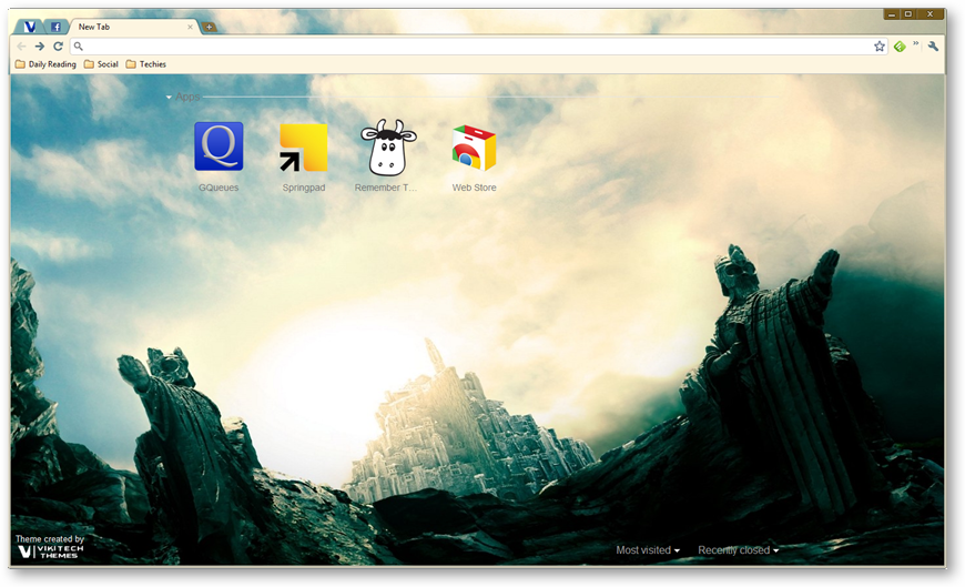 Google Chrome Themes : Lord Of The Rings [Movie Themes]