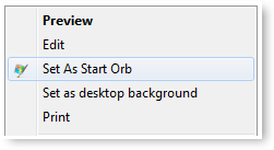 Start Orb Changer - Option in Context Menu