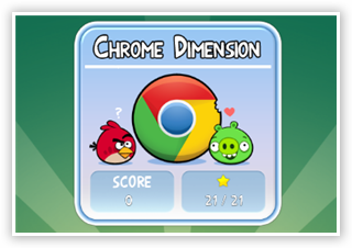 Special Chrome Dimension Levels in Angry Birds