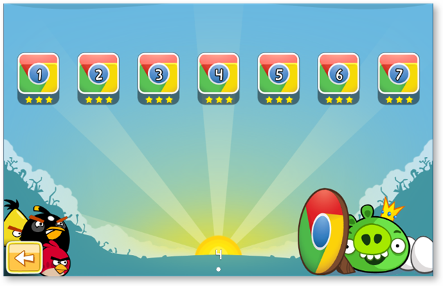 Special Chrome Levels in Angry Birds