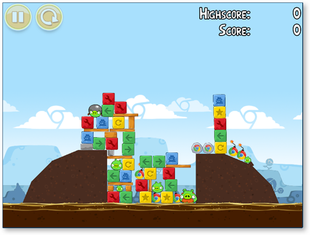 Level 4-3 in Angry Birds For Chrome