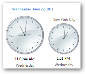 Windows 7 Taskbar clocks
