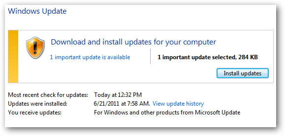 (11) update ready to install