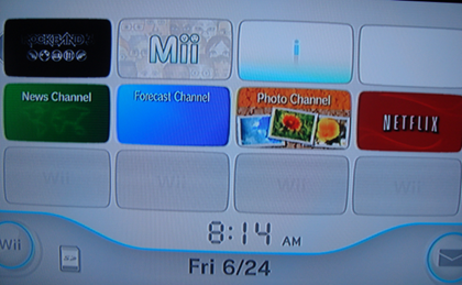 (12) Netflix Menu After Added to Wii