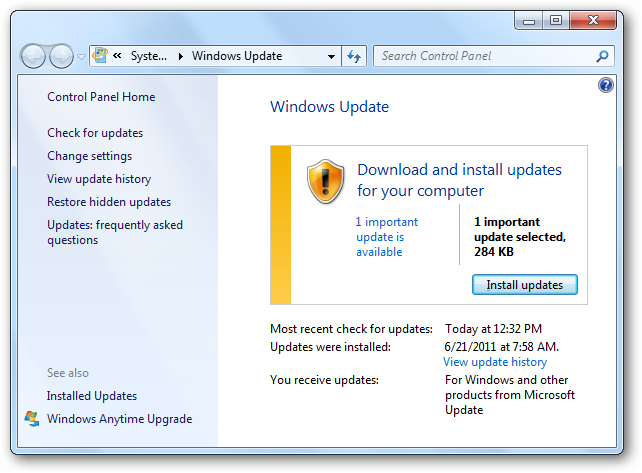 (5) windows updates main screen