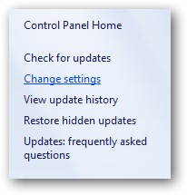 (6) change settings