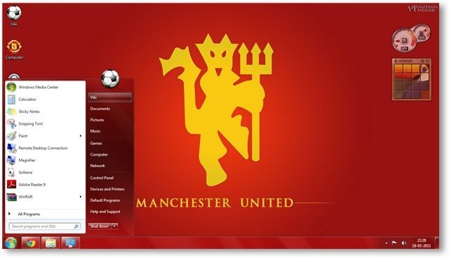 Manchester united fc windows 7 theme manchester united wallpaper 02 technorms voltagebd