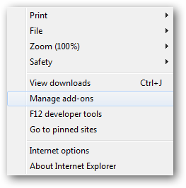 chrome frame - manage add-ons (7)