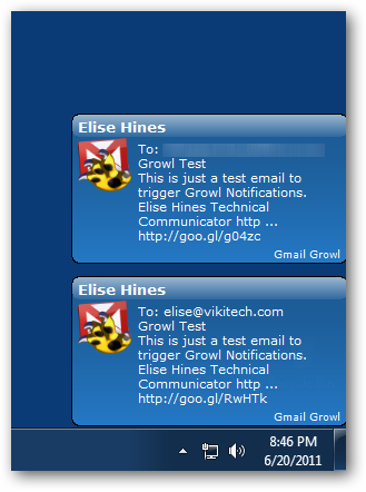 Growl Notifications for Gmail