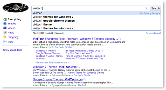 Google Instant Page for TechNorms