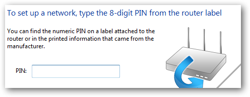 (8) pin number from router
