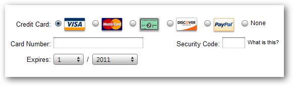 (9) payment information