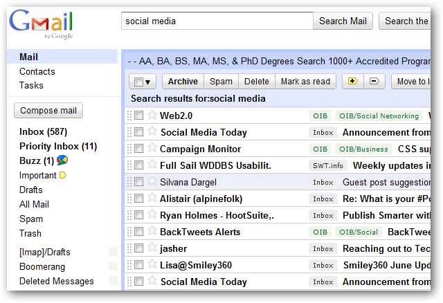 Before - Classic Gmail