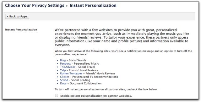 Instant Personalization